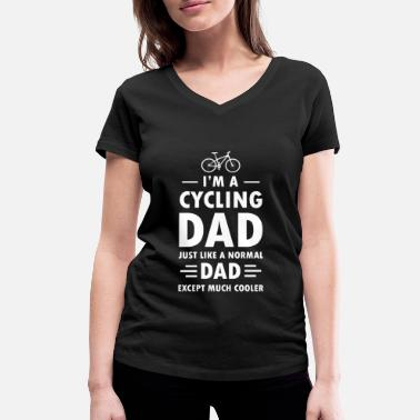 Cycling Dad Cycling Dad - Women's Organic V-Neck T-Shirt by Stanley & Stella