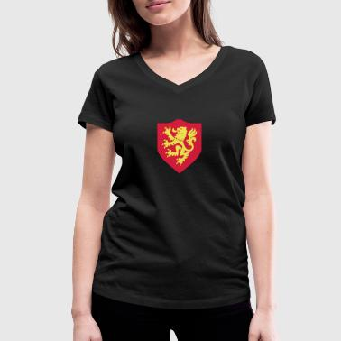 English Lion Lion, English Lion, cairaart.com - Women's Organic V-Neck T-Shirt by Stanley & Stella