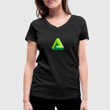 triangle optical illusion - Women's Organic V-Neck T-Shirt by Stanley & Stella