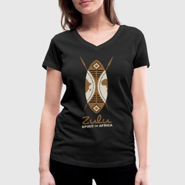 Warriors Zulu - spirit of Africa - Women's Organic V-Neck T-Shirt by Stanley & Stella