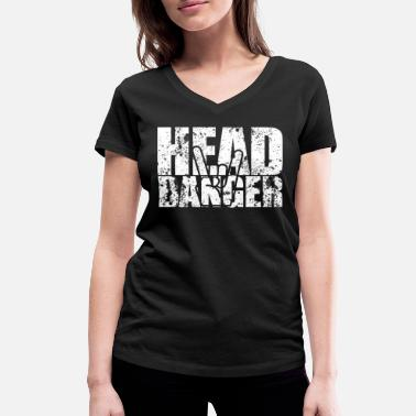 Headbanger The headbanger - Women's Organic V-Neck T-Shirt by Stanley & Stella