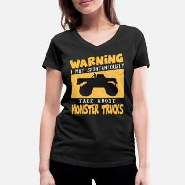 Pick Up Truck Monster Truck Big Foot Truck Mega Diesel Pick Up - Women's Organic V-Neck T-Shirt by Stanley & Stella
