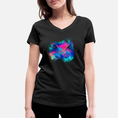 Chromatic Iridescent chromatic colorful - Women's Organic V-Neck T-Shirt by Stanley & Stella