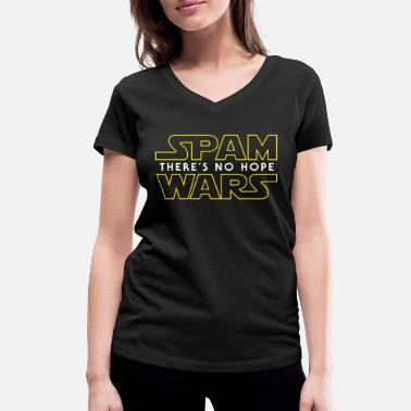 Spam Spam Wars - There's No Hope - Vrouwen bio T-shirt met V-hals van Stanley & Stella
