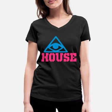 House Keeper house - Women's Organic V-Neck T-Shirt by Stanley & Stella