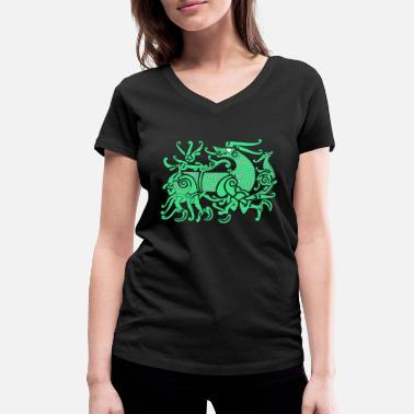 Germanic Tribes Fenriswolf, mythical wolf Germanic - Women's Organic V-Neck T-Shirt