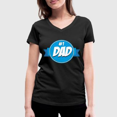 Daddy Of The Year Daddy of the year - Women's Organic V-Neck T-Shirt by Stanley & Stella