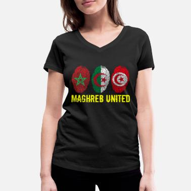 Maghreb United MAGHREB UNITED المغرب - Women's Organic V-Neck T-Shirt by Stanley & Stella