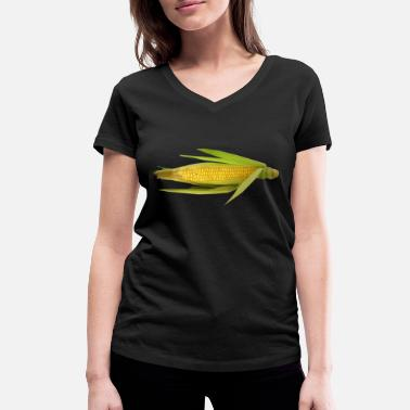 Maize corn corn maize cereal veggie vegetables vegetables - Women's Organic V-Neck T-Shirt by Stanley & Stella