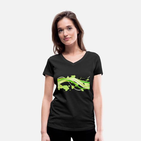 Forest T-Shirts - Natural decoration - Women's Organic V-Neck T-Shirt black