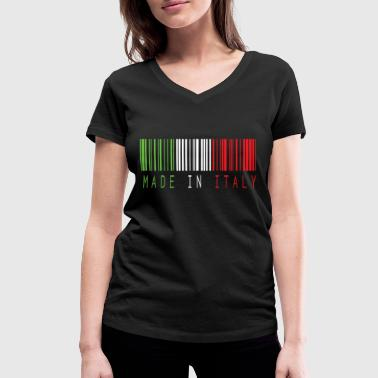 Colour Bar MADE IN ITALY BAR CODE - Women's Organic V-Neck T-Shirt by Stanley & Stella
