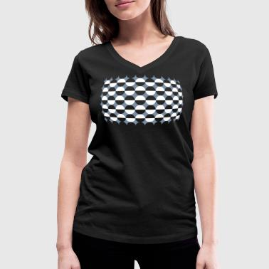 Optical Illusion Just For Girls ;) - Women's Organic V-Neck T-Shirt by Stanley & Stella