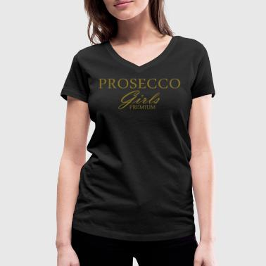 Champagne Prosecco Prosecco Girls Premium - Women's Organic V-Neck T-Shirt by Stanley & Stella