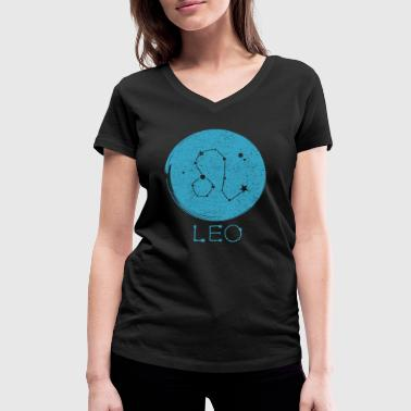 astrological sign Leo - Women's Organic V-Neck T-Shirt by Stanley & Stella