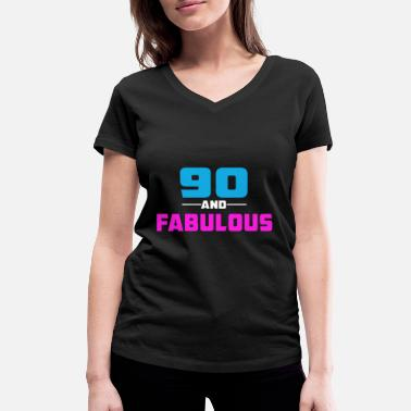 90s Quotes 90 - Women's Organic V-Neck T-Shirt by Stanley & Stella