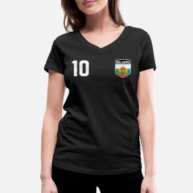 Reds Jersey Bulgaria jersey - Women's Organic V-Neck T-Shirt by Stanley & Stella