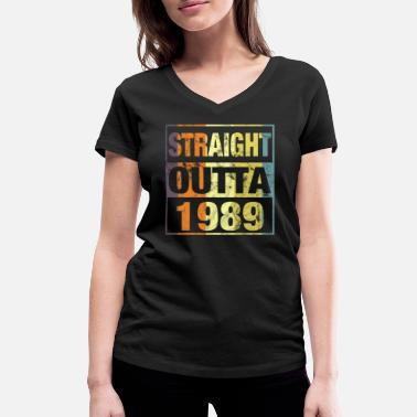 Born 1989 Straight Outta 1989 - 30th Birthday T-Shirt - Women's Organic V-Neck T-Shirt by Stanley & Stella
