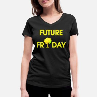 Movement Future Friday Environment Protest Movement Movement - Vrouwen V-hals bio T-shirt
