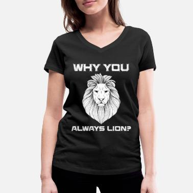 Serengeti Lion Lion Safari Zoo Mane King Jungle Gold - Women's Organic V-Neck T-Shirt