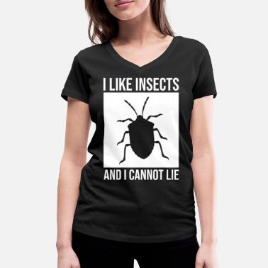 Insect Insect insect insects - Women's Organic V-Neck T-Shirt