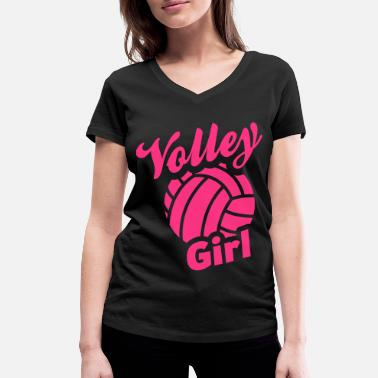Volley volley girl - Women's Organic V-Neck T-Shirt