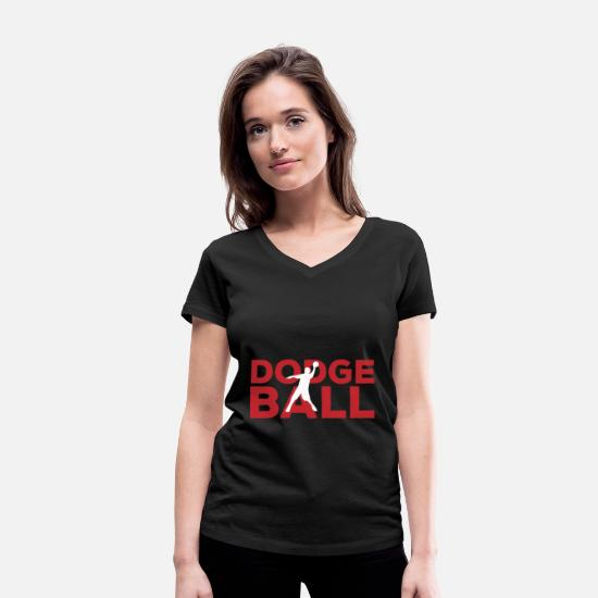 Gift Idea T-Shirts - Dodgeball leisure in the name - Women's Organic V-Neck T-Shirt black