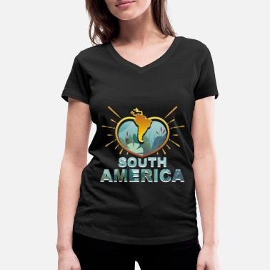 South America South America - Women's Organic V-Neck T-Shirt