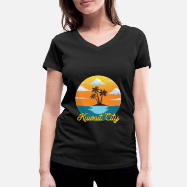 Kuwait City Kuwait City Dream Vacation and Vacation - Ekologisk T-shirt med V-ringning dam