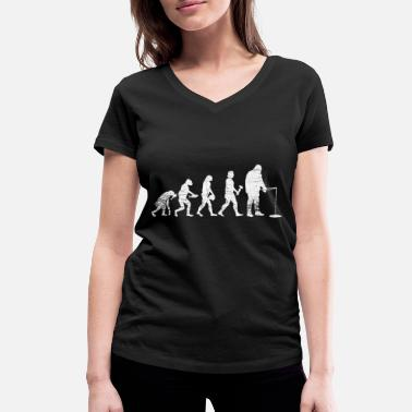 Scandinavia Evolution ice fishing - Women's Organic V-Neck T-Shirt