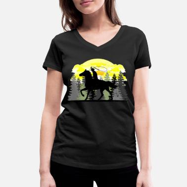 Western Riding Western riding - Women's Organic V-Neck T-Shirt