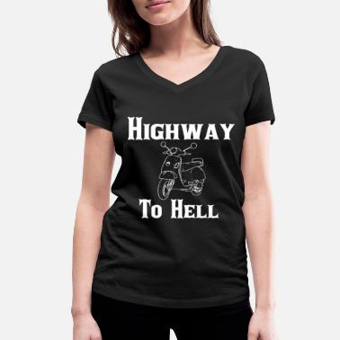 Highway To Hell Highway To Hell - Women's Organic V-Neck T-Shirt