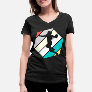 handball handball player athlete Gifts for - Women's Organic V-Neck T-Shirt