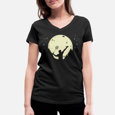 Badminton Moon Badminton Moonlight Badminton Moon - Vrouwen V-hals bio T-shirt