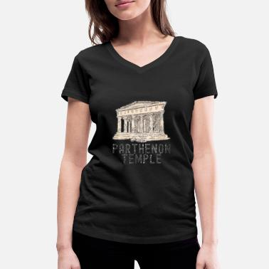 Greece Greece Country Gift Athens Funny - Women's Organic V-Neck T-Shirt