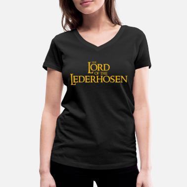 Lederhose the lord of the lederhosen - Frauen Bio T-Shirt mit V-Ausschnitt