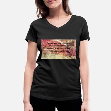 Writing h44444 - Vrouwen V-hals bio T-shirt
