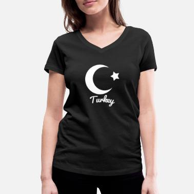 Islam Middle East Ankara Gift Turkey Country Flag - Women's Organic V-Neck T-Shirt