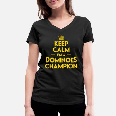 Occasion Keep Calm Dominoes Tiles Puzzler Game Gift - T-shirt bio col V Femme