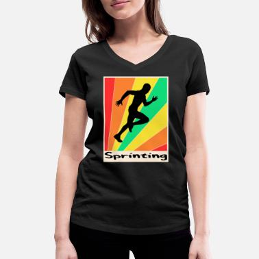 Sprinting Sprinting posters Sprinting - Women's Organic V-Neck T-Shirt