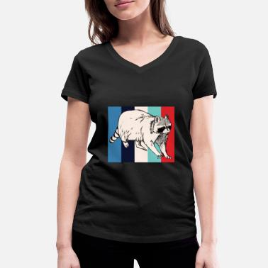 Rodent Rodent | Retro | Rodent | racoon - Women's Organic V-Neck T-Shirt