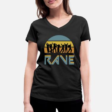 Rave rave - Women's Organic V-Neck T-Shirt