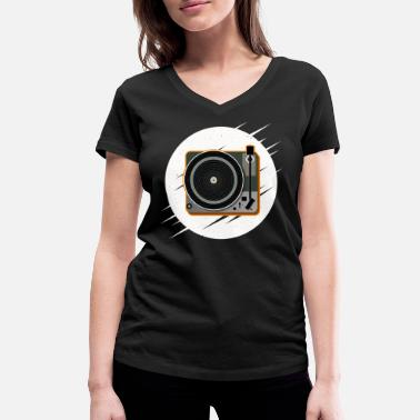 Record Player Record player | Record | Gift idea - Women's Organic V-Neck T-Shirt