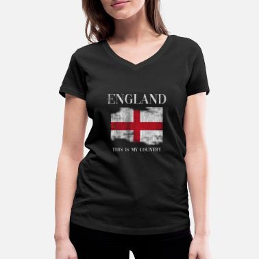 England England home - Women's Organic V-Neck T-Shirt