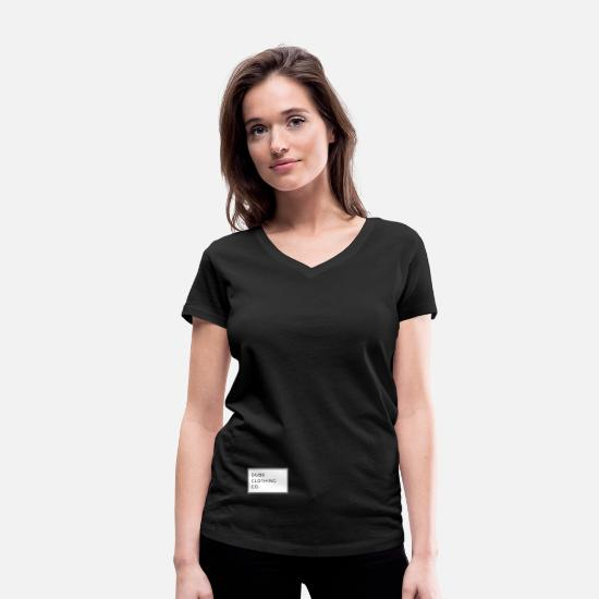 Wealthy T-Shirts - The Dubs Clothing Co. Collection - Women's Organic V-Neck T-Shirt black