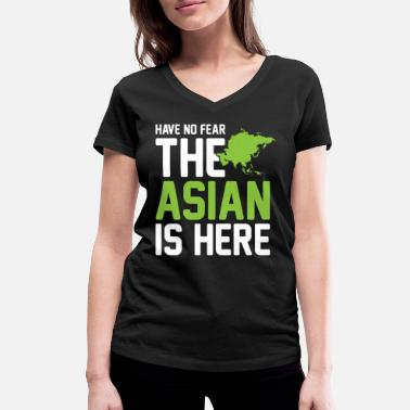 Asian The Asian is here - Women's Organic V-Neck T-Shirt