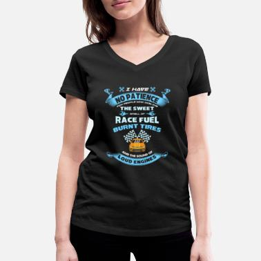 Sport Automobile Racing Loud Engines Course automobile - Sport automobile - T-shirt bio col V Femme