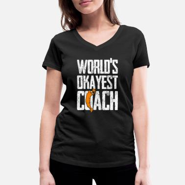 Coach Basketball coach - Women's Organic V-Neck T-Shirt