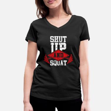Squat squat fitness squats - Women's Organic V-Neck T-Shirt