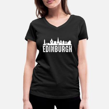 Edinburgh Edinburgh - Women's Organic V-Neck T-Shirt