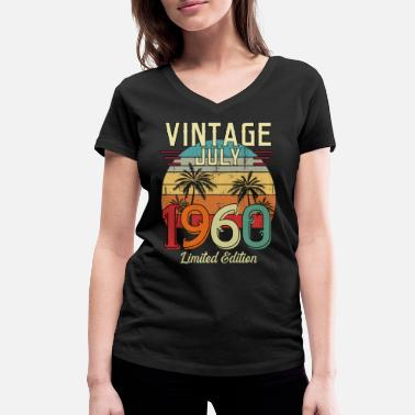 Born In Vintage July 1960 Limited Edition - Women's Organic V-Neck T-Shirt